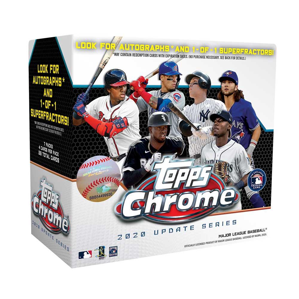 MLB 2020 Topps Chrome Updates Baseball Mega Box 1/28入荷