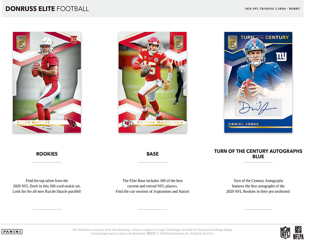 NFL 2020 Panini Donruss Elite Football 7/29入荷!