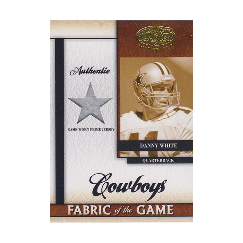 ダニー・ホワイト 2008 Leaf Certified Materials Fabric of the Game Prime Jersey 16/25 Danny White