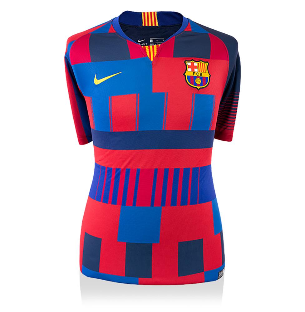 リオネル・メッシ 直筆サイン入りユニフォーム ナイキ20周年記念 FC バルセロナ ホーム バックサイン (Lionel Messi Back Signed FC Barcelona Shirt: 600 FC Barcelona Goals Special Edition) 12/26入荷