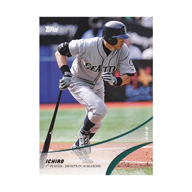 イチロー Ichiro 2019 Topps On Demand Set #4-6 1st Player with 200 Hits in 10 Straight Seasons