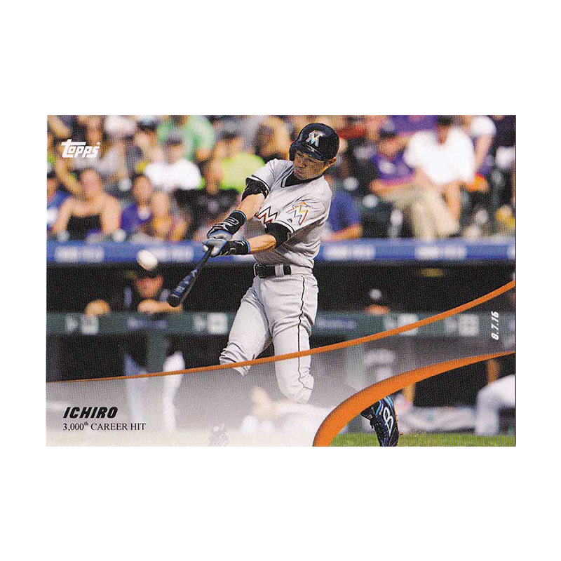 イチロー Ichiro 2019 Topps On Demand Set #4-7 3,000 Career Hit