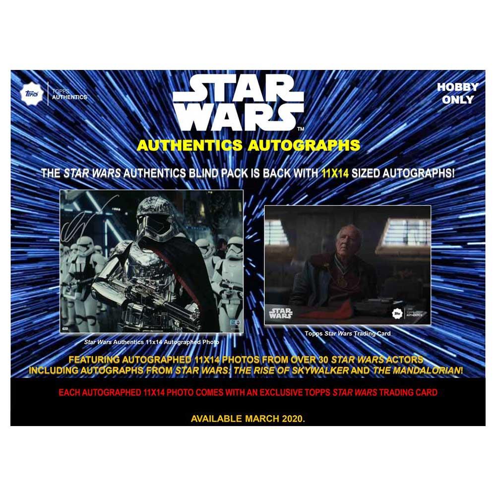 スターウォーズ 2020 Topps Star Wars Authentics Autographs 11x14 Blind Purchase 3/18入荷