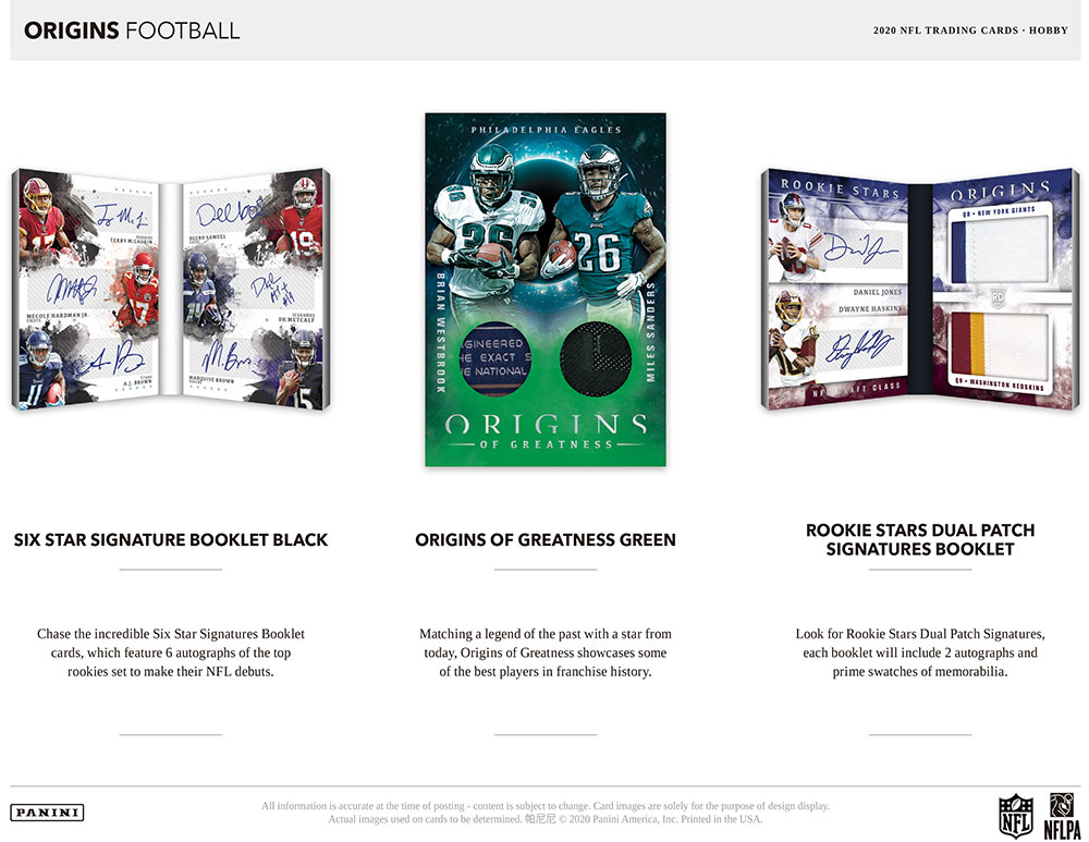 NFL 2020 Panini Origins Football 10/2入荷!