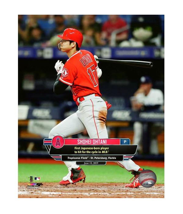 大谷翔平 日本人初MLBサイクルヒット 8x10 フォト 2019/6/13 ロサンゼルス・エンゼルス