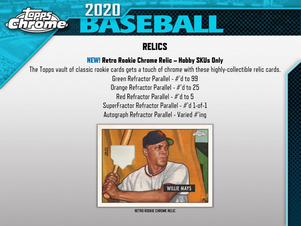 MLB 2020 Topps Chrome Baseball Jumbo 8/7入荷