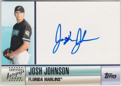 ジョシュ・ジョンソン 2006 Topps Series 1 Auto Josh Johnson