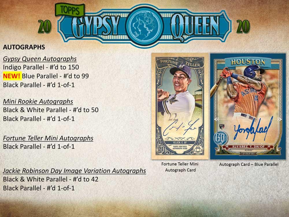 MLB 2020 Topps Gypsy Queen Baseball 3/25入荷!