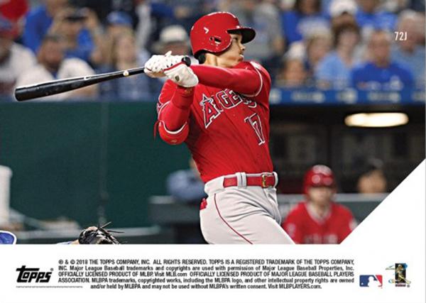 大谷翔平 First Career Triple Clears Bases In 5-Run 7th-Inning - Shohei Ohtani MLB TOPPS NOW CARD #72J  メジャー初三塁打カード(日本語版)
