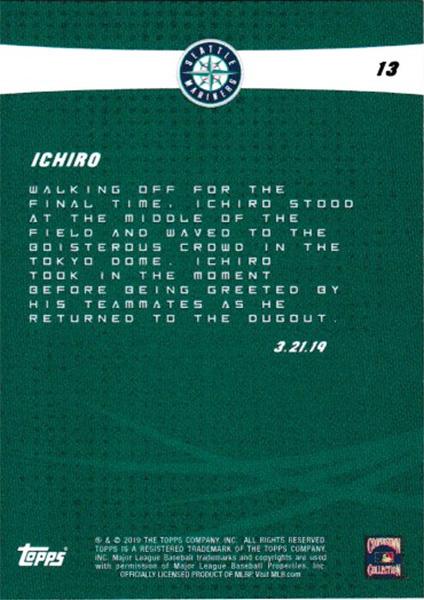 イチロー Ichiro 2019 Topps On Demand Set #4-13 Legendary Send-Off