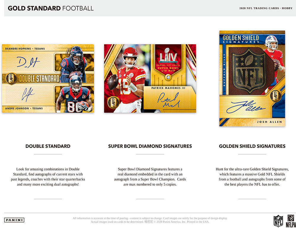 NFL 2020 Panini Gold Standard Football 8/7入荷