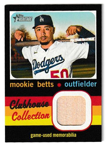 ムーキー・ベッツ MLBカード 2020 Topps Heritage High Number Clubhouse Collection Relics / Mookie Betts