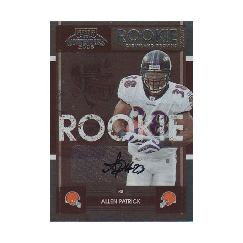 アレン・パトリック 2008 Playoff Contenders Rookie Ticket / Allen Patrick