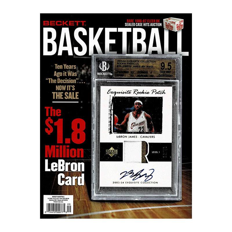 NBA Beckett Plus #336 2020年 9月号 (ベケット) 8/12入荷 !!
