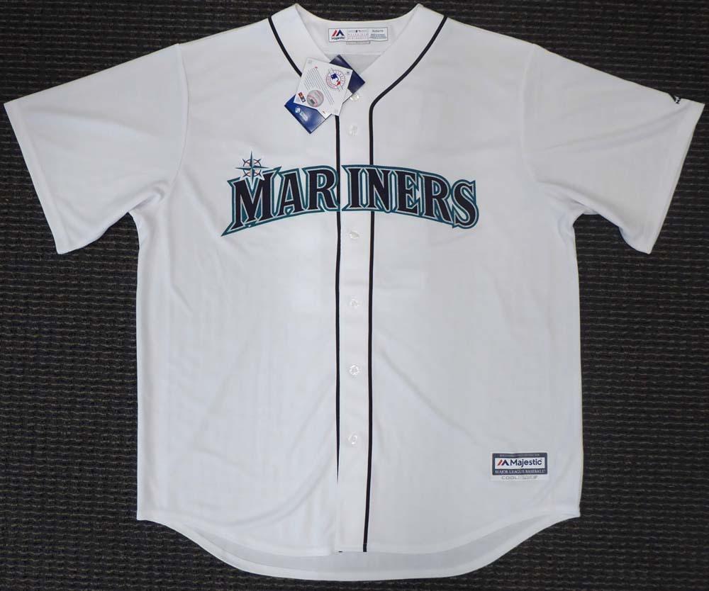 """イチロー 直筆サイン入り マリナーズ クールベース ユニフォーム ホワイト XLサイズ / Seattle Mariners Ichiro Suzuki Autographed White Majestic Cool Base Jersey """"#51"""" Size XL IS Holo Stock"""