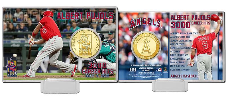 (予約)The Highland Mint (ハイランドミント) アルバート・プホルス ロサンゼルス・エンゼルス 3000本安打記念ブロンズコインカード (Albert Pujols 3000 Career Hits Bronze Coin Card) 5月下旬入荷予定!
