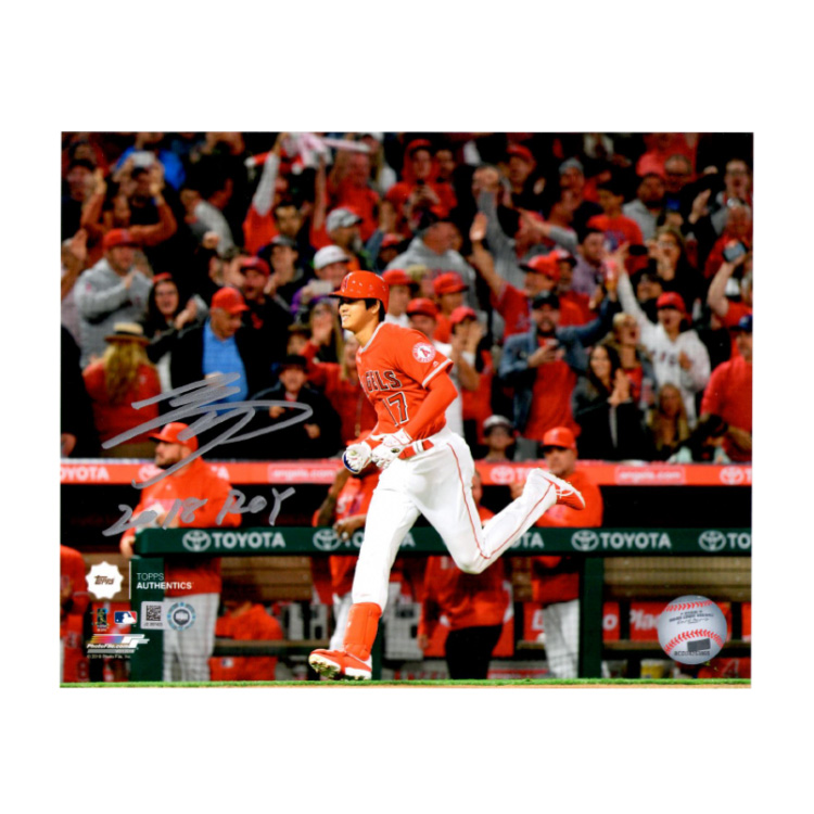 大谷翔平 直筆サイン入り 8x10フォト (1st MLB HR Photo) 2018 ROY入り エンゼルス / Shohei Ohtani Autographed 8x10 Photo Running