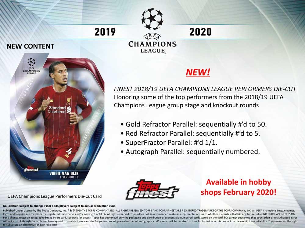 サッカー2020 Topps Finest UEFA Champions League Soccer 7/6入荷