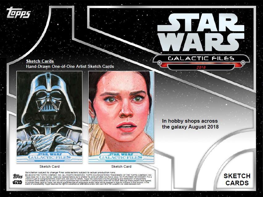 スター・ウォーズ 2018 Topps Star Wars Galactic Files トレーディングカード 8/10入荷!