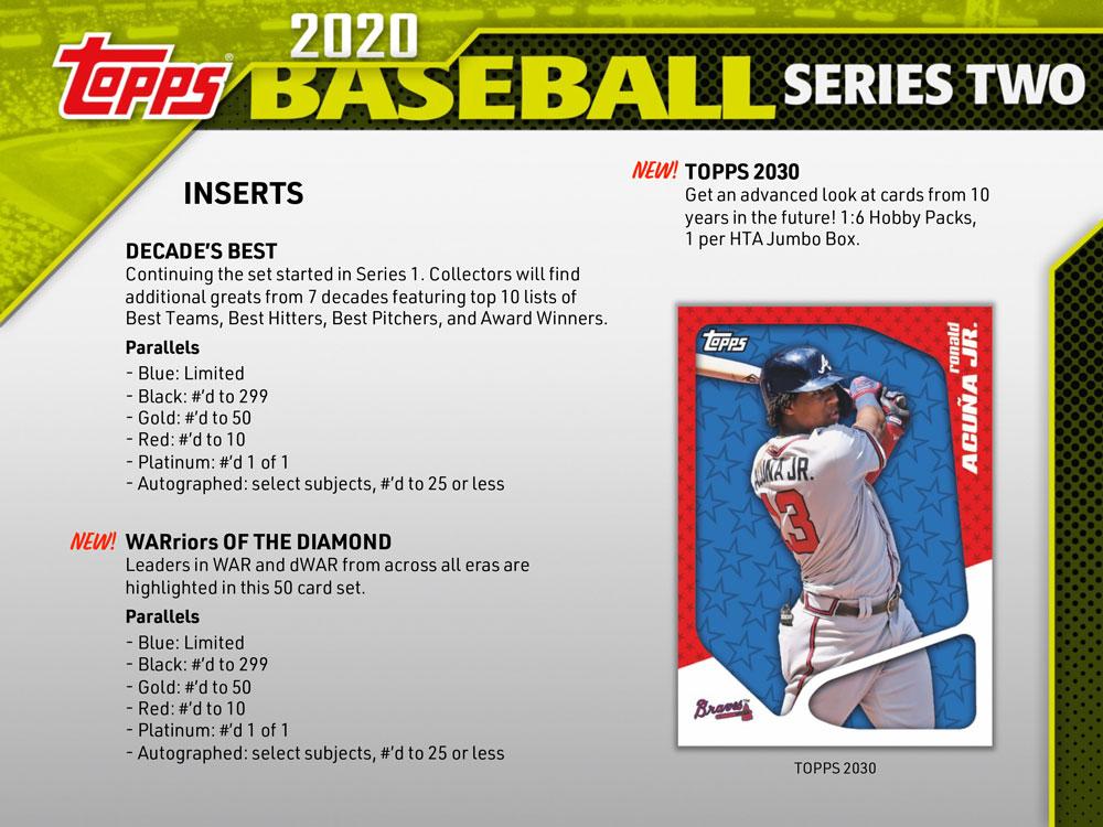 MLB 2020 Topps Baseball Series 2 Hobby 6/26入荷!