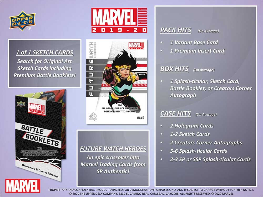 2019-20 Upper Deck Marvel Annual Trading Cards ボックス(Box) 11/6入荷!
