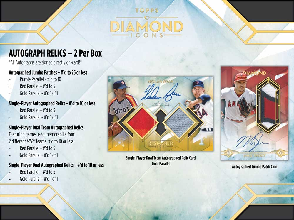 MLB 2020 Topps Diamond Icons 6/10入荷