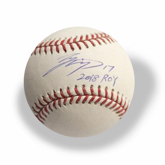 大谷翔平 2018 ROY 17 入り直筆サインボール / Shohei Ohtani Autographed Inscribed 2018 ROY 17 Baseball