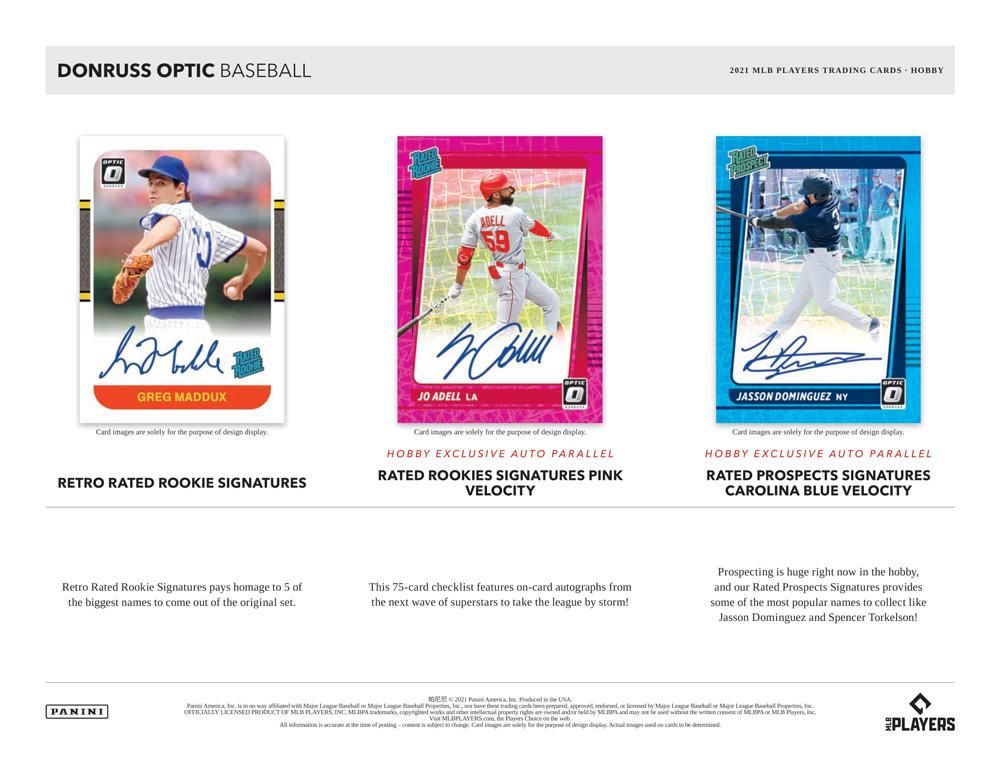 2021 Panini Donruss Optic Baseball Hobby 10/6入荷!