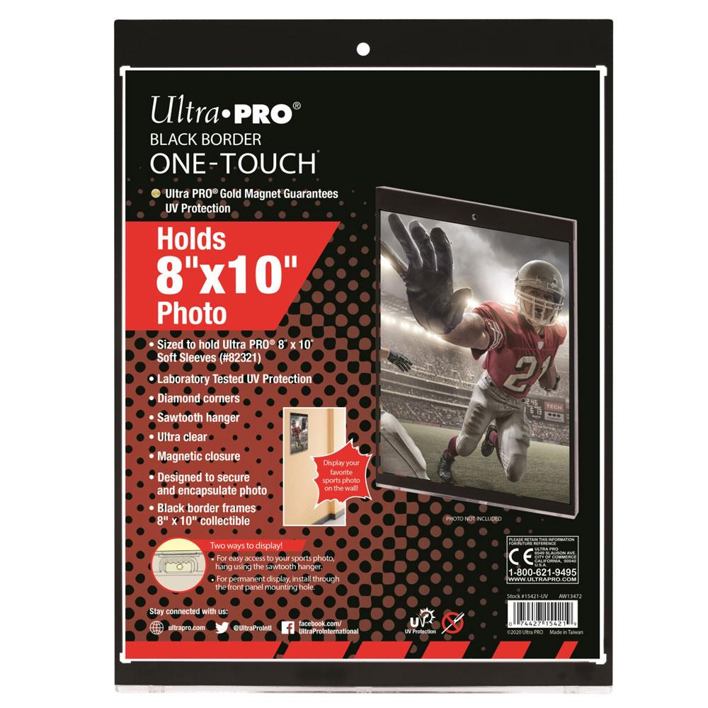 ウルトラプロ (Ultra Pro) 8 x 10 フォト 黒枠 UVワンタッチマグネットホルダー #15421 | 8 x 10 UV One Touch Black Frame Magnetic Holder