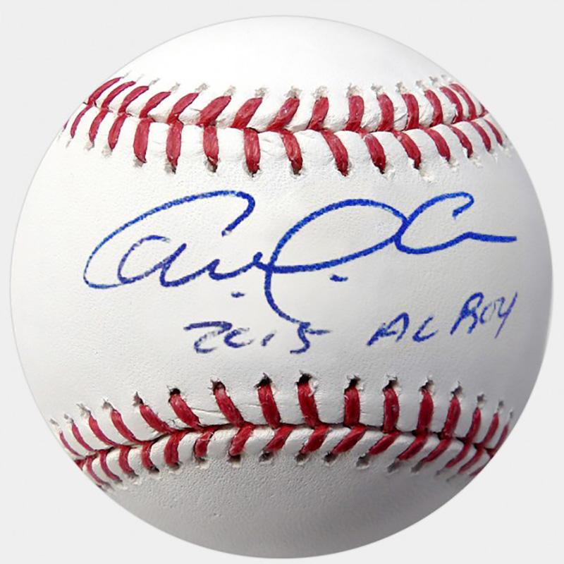 """カルロス・コレア 直筆サインボール """"2015 AL ROY""""インスクリプション入り / Carlos Correa Autographed Baseball - 2016 'AL ROY' Inscription 4/9入荷"""