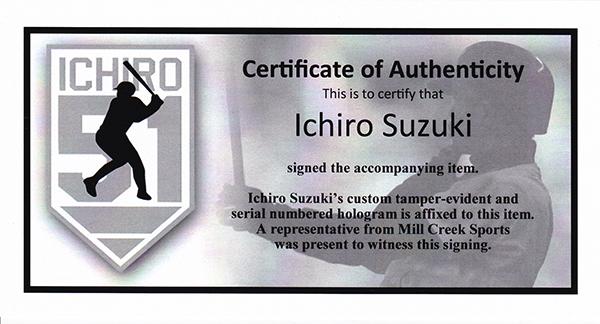 イチロー 初ヒット記念 直筆サインフォト 8x10 (Ichiro Suzuki Autographed 8x10 Photo Seattle Mariners 1st Career Hit IS Holo Stock) 12/22再入荷