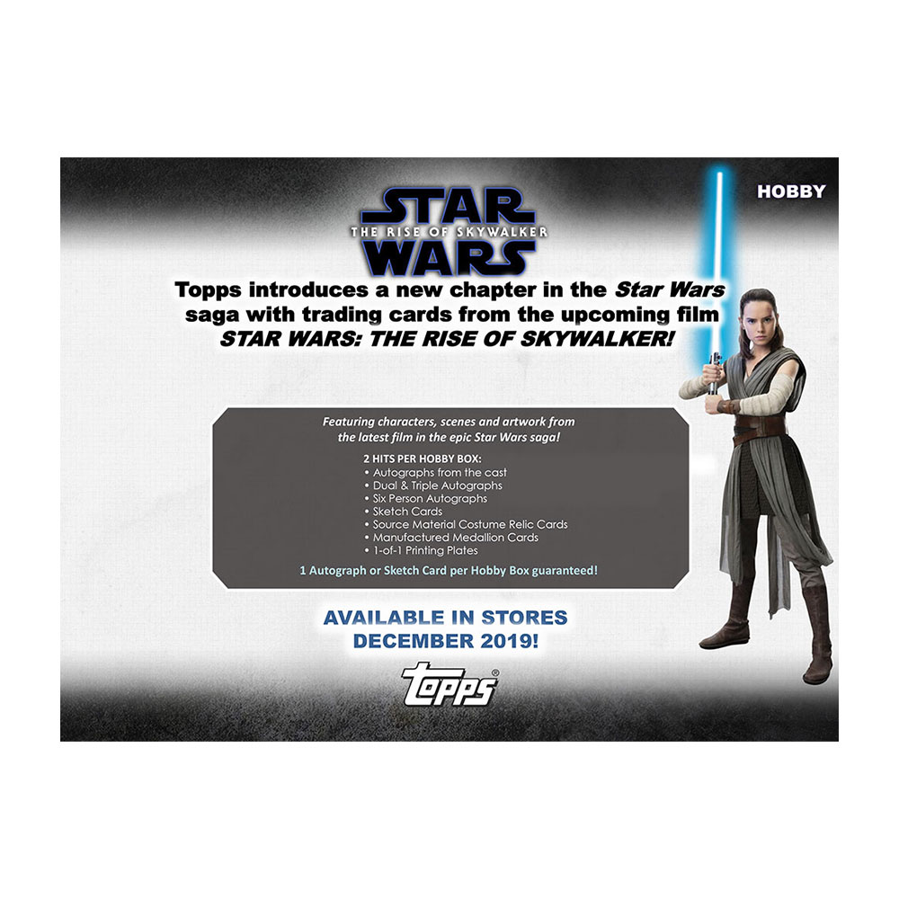 スター・ウォーズ 2019 Topps Star Wars Episode 9 The Rise of Skywalker : Series 1 トレーディングカード 12/21入荷