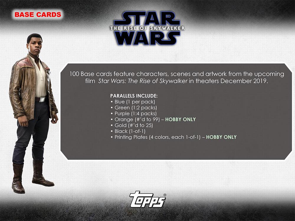 スター・ウォーズ 2019 Topps Star Wars Episode 9 The Rise of Skywalker : Series 1 トレーディングカード 12/21入荷