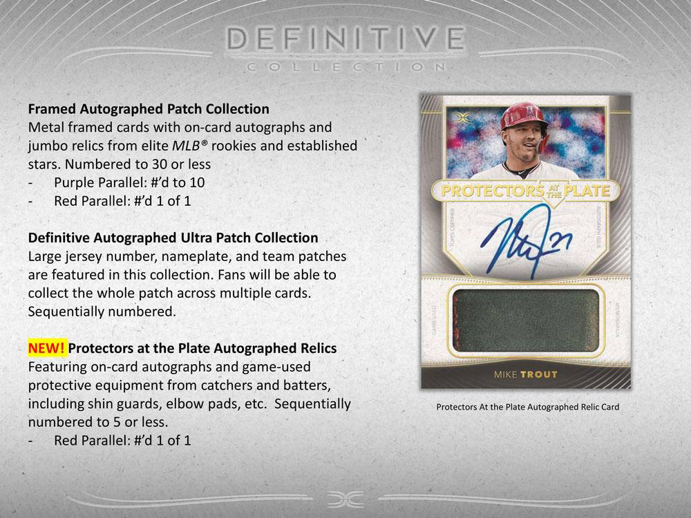MLB 2021 Topps Definitive Collection Baseball 3/31入荷
