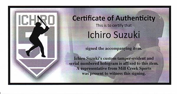 イチロー 262安打記念 直筆サインフォト 8x10 (Ichiro Suzuki Autographed 8x10 Photo Seattle Mariners 262 Hits IS Holo Stock) 12/22再入荷