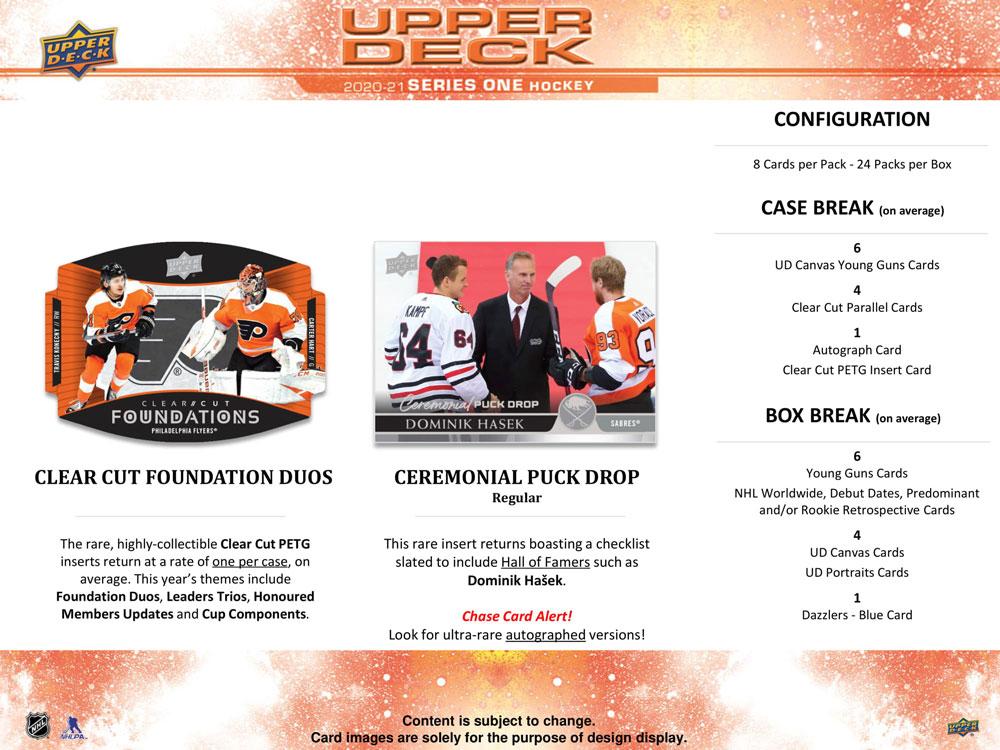 NHL 2020-21 Upper Deck Series 1Hockey Hobby 店頭販売中、価格はASK、11/19入荷!