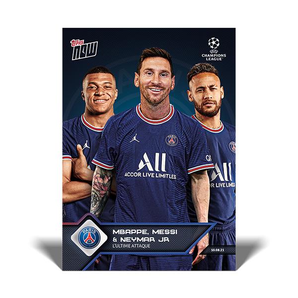 キリアン・エンバペ&リオネル・メッシ&ネイマール #013 キリアン・エンバペ&リオネル・メッシ&ネイマール選手のベストな攻撃陣が誕生した記念カード L'Ultime Attaque Kylian Mbappé&Lionel Messi&NeymarJr.   2021 Topps Now Card 10/13入荷