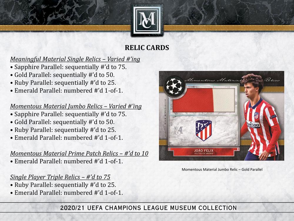 サッカー 2020-21 Topps UEFA Champions League Museum Collection Soccer 4/23入荷!