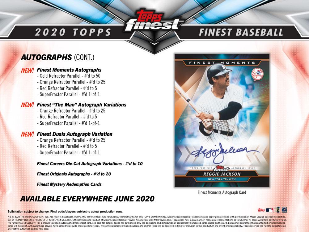 MLB 2020 Topps Finest Baseball 6/19入荷