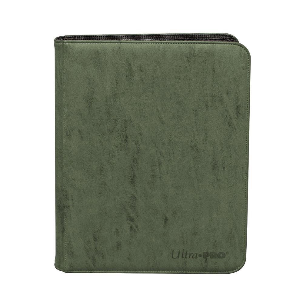 ウルトラプロ (Ultra Pro) スエードコレクション ジッパード9ポケット プレミアム プロ バインダー エメラルド #15488 | Suede Collection Zippered 9-Pocket Premium PRO-Binder - Emerald
