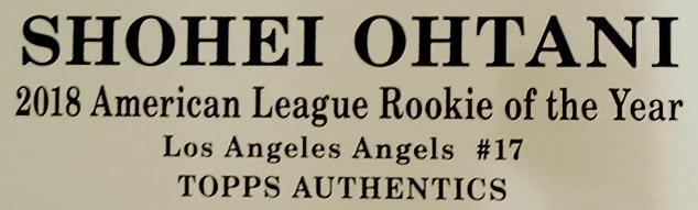 大谷翔平 直筆サイン入り エンゼルス オーセンティック ユニフォーム ホーム 額装 ウッド / Shohe Ohtani Autograped Angels Authentic Jersey - 2018 Home, White