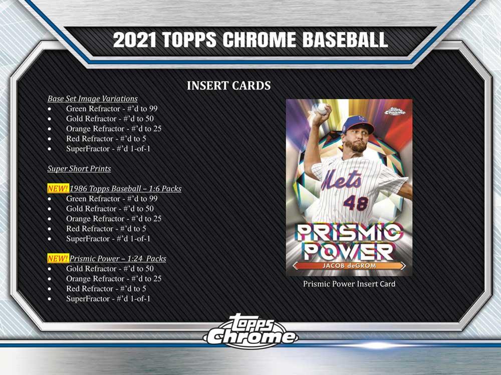 MLB 2021 Topps Chrome Baseball Jumbo版 8/20入荷