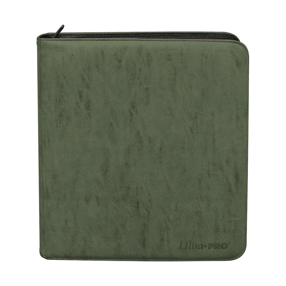 ウルトラプロ (Ultra Pro) スエードコレクション デッキビルダーズ プレイセット プロ バインダー エメラルド 12ポケット #15489 | Suede Collection Deck Builder's Playset PRO-Binder - Emerald