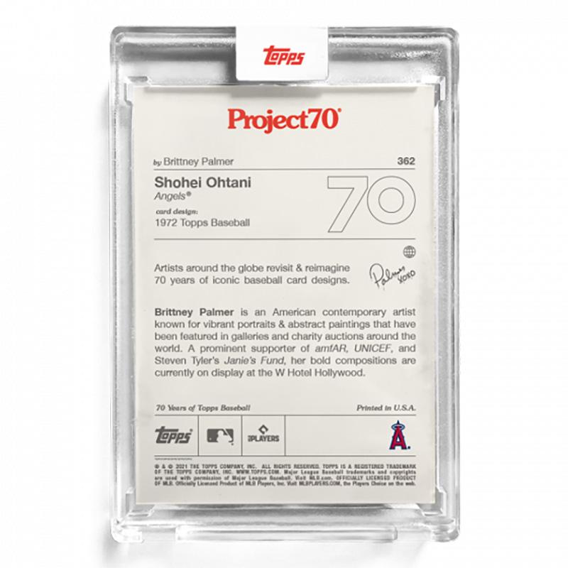 大谷翔平 #362 Topps Project70 Card Shohei Ohtani by Brittney Palmer 8/17入荷