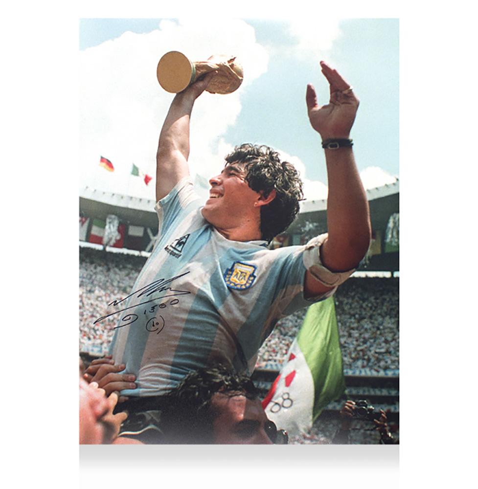 ディエゴ・マラドーナ 直筆サイン入りフォト 1986 FIFA ワールドカップ ウィナー Diego Maradona Signed Argentina Photo: 1986 FIFA World Cup Winner 10/21入荷!