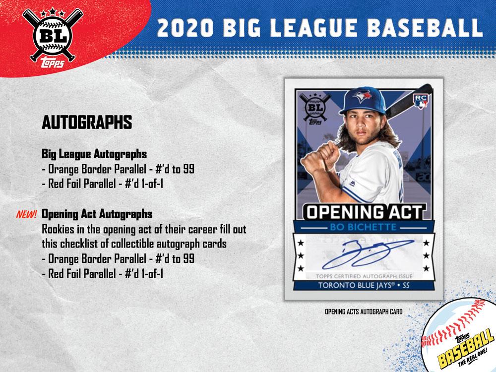 MLB 2020 Topps Big League Baseball Hobby 6/19入荷!