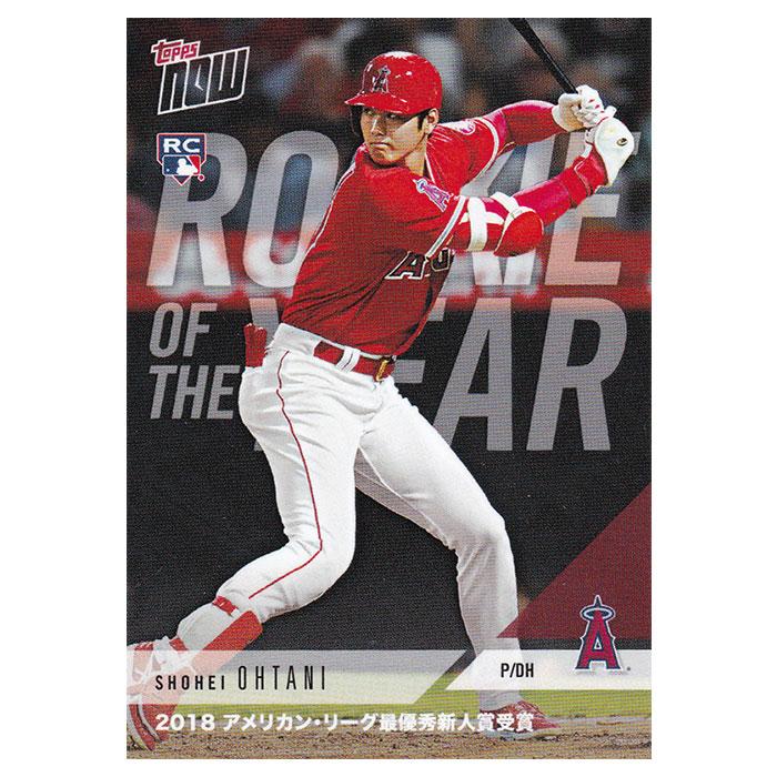 大谷翔平 2018 AL Rookie of the Year Award Winner (日本語版) - Shohei Ohtani MLB Topps Now Card AW-1J 12/5入荷