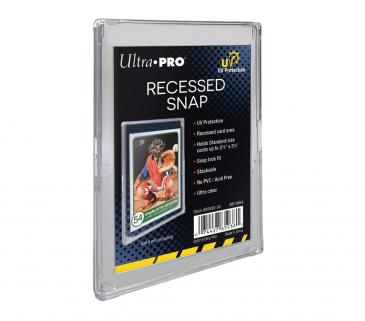 ウルトラプロ (Ultra Pro) UVカット スナップ カードホルダー 溝ありタイプ #85938-UV | UV Recessed Snap Card Holder