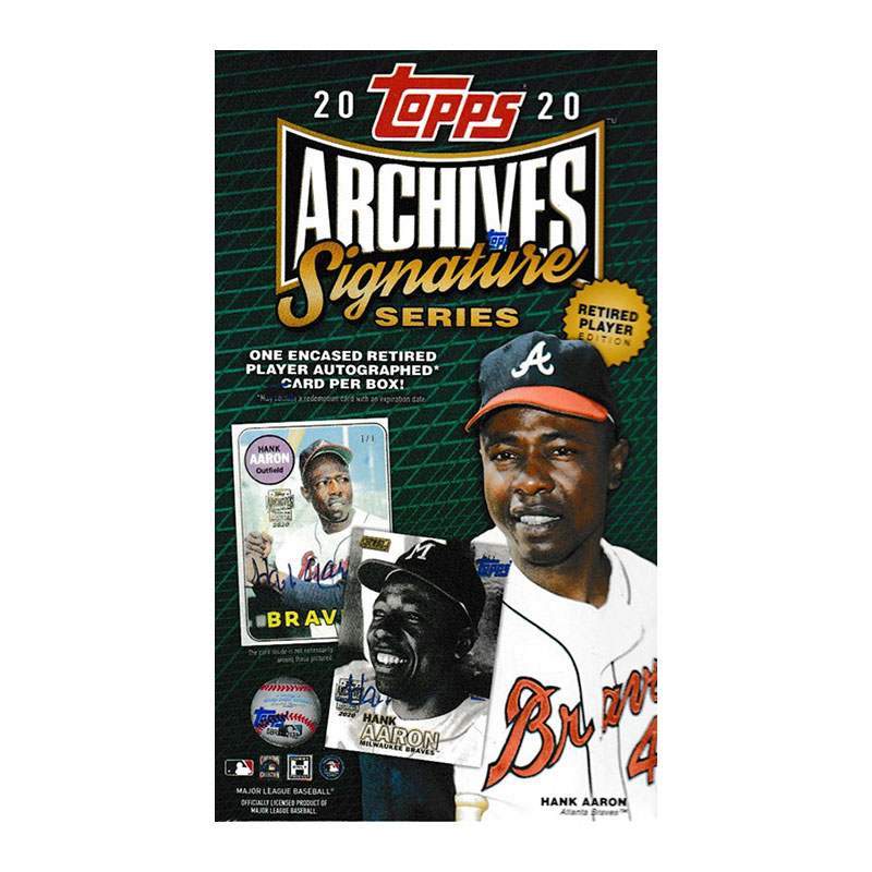 MLB 2020 Topps Archives Signature Series Baseball Retired Player Edition 7/8入荷