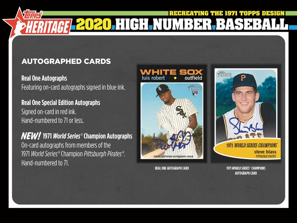 MLB 2020 Topps Heritage High Number 12/30入荷